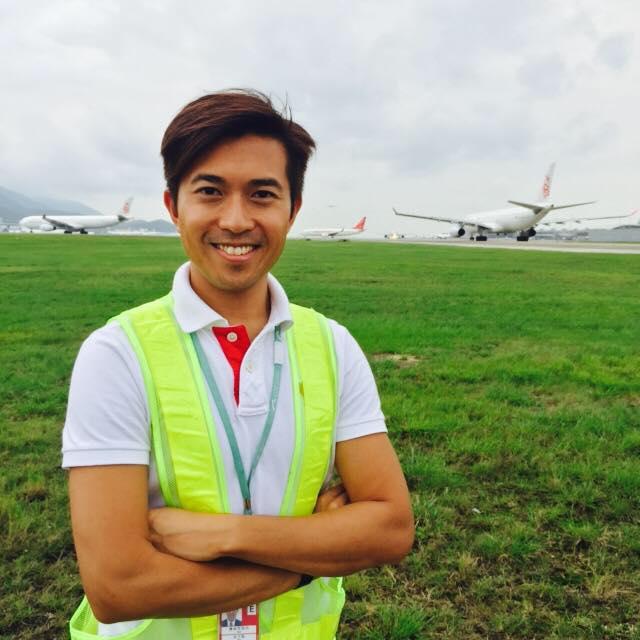 在機場上班的好處之一,就是有機會在飛行區工作,近距離觀看飛機。