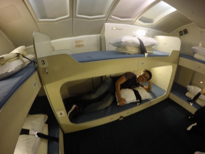 專程飛往日本送別空中女王,還有幸參觀機艙服務員休息的地方。