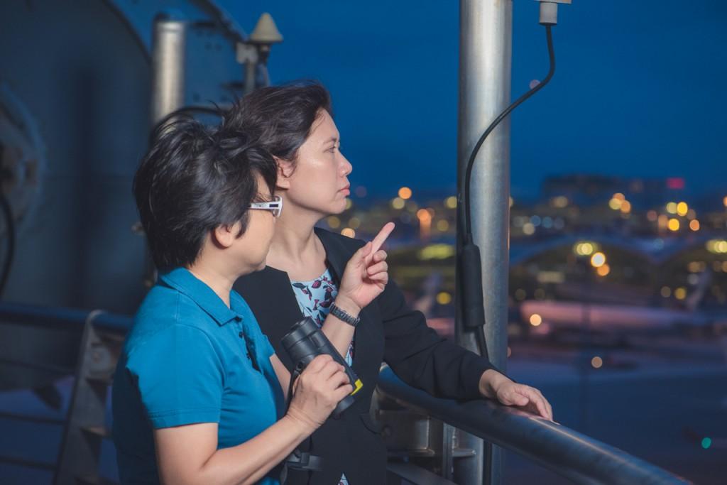 觀測員可於機場氣象所的環形露台即時觀測天氣變化。