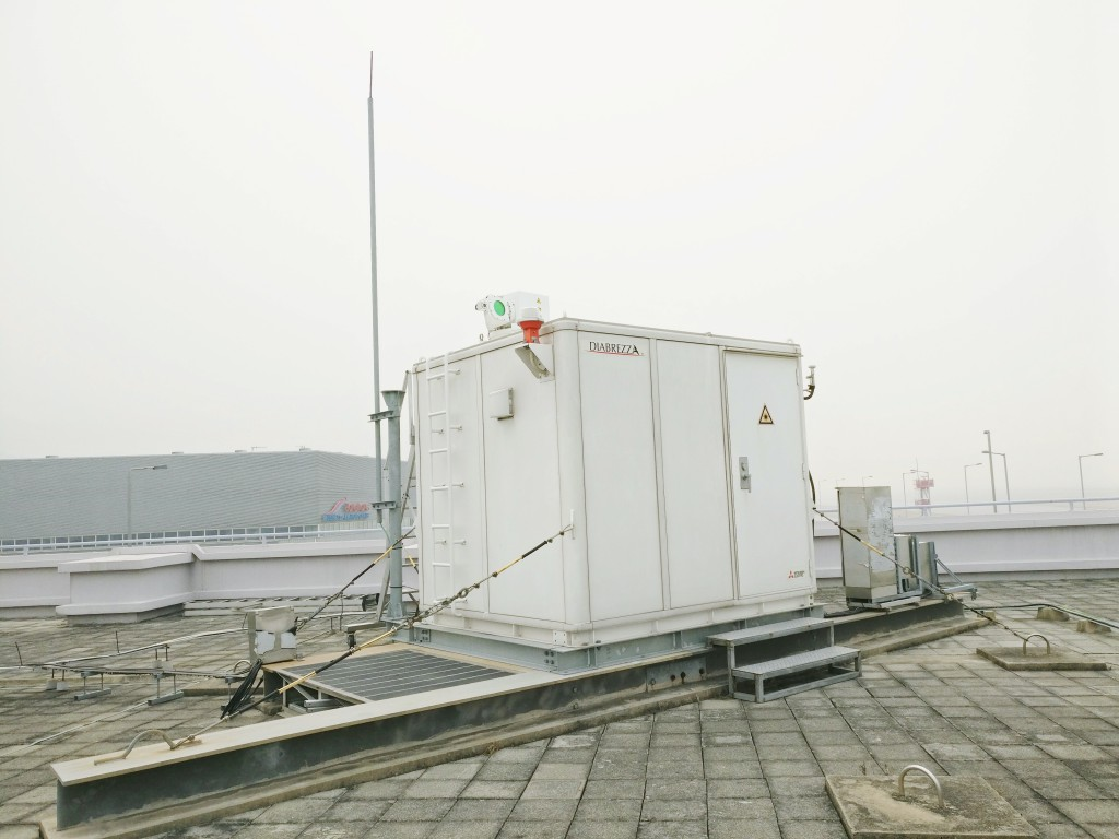 機場獨有的激光雷逹可準確地探測風切變,讓飛機能安全升降。