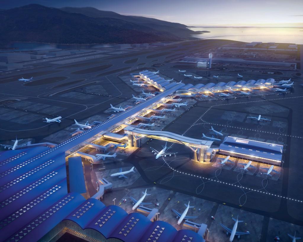 一號客運大樓與北衛星客運廊之間將興建「天際走廊」,為旅客帶來更順暢的登機體驗。
